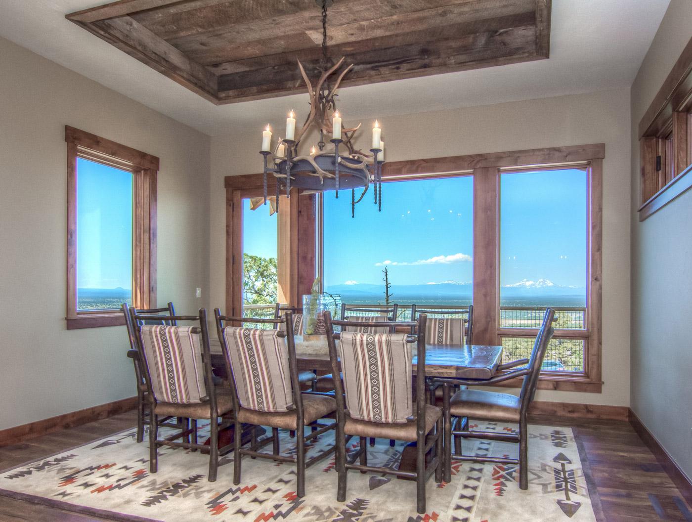 home in brasada ranch dining room