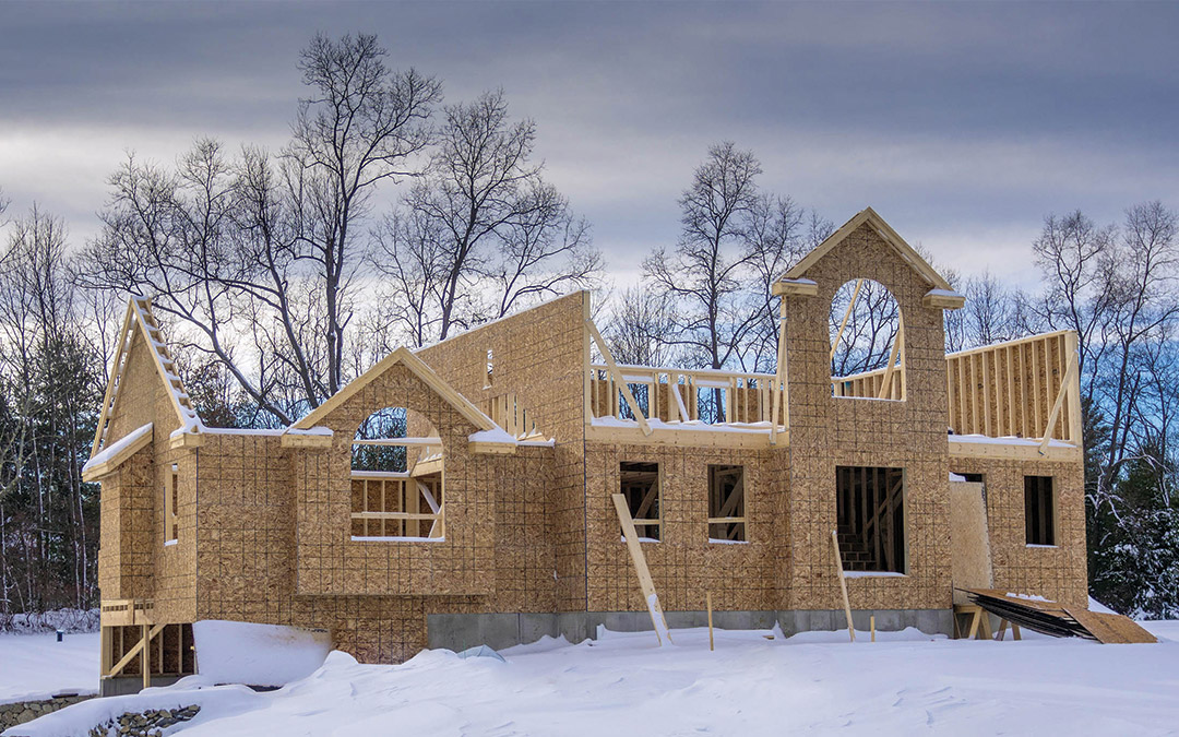 building a home in the wintertime